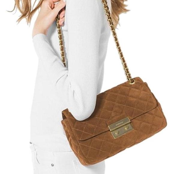 Michael Kors Sloan Suede Quilted Handbag